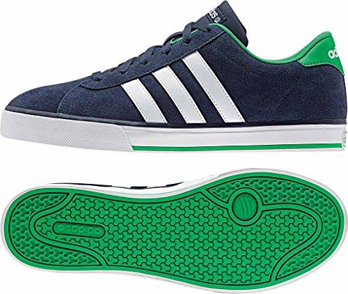 adidas Daily - Zapatillas para hombre Azul marino / Blanco / Verde