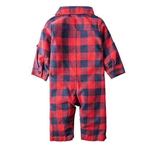 BIG ELEPHANT Boys'1 Piece Stripe Long Sleeve Romper Pajama J30