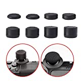 Mudder L2 R2 L1 R1 Trigger Replacement Parts Buttons Replacement Joysticks Thumbstick Silicone Thumb Stick Grips Cap Cover for PS4 Controllers, Black