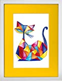 The Purrfect Companion - Modern Paper Quilled Wall Art for Home Decor (one of a kind paper quilling handcrafted piece made with love by an artist in California)