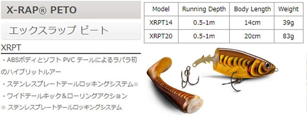 14 cm, 39 g Se/ñuelo de hundimiento Lento Rapala X-Rap Peto