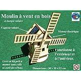 Moulin à vent en bois à énergie solaire