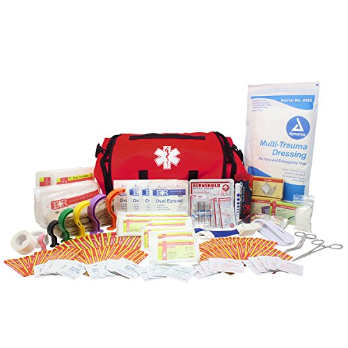 (Dixie Ems Fully Stocked First Responder On Call Kit, Red)