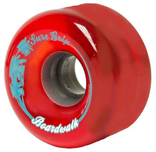 Sure-Grip Boardwalk Outdoor Wheels - Red