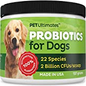 You love your dog, and it hurts you when they suffer.    Now you can help them. Each tasty scoop of PetUltimates Probiotics for Dogs contains two billion bacteria known to support regular digestion, healthy skin, renewed vitality. The army of protect...