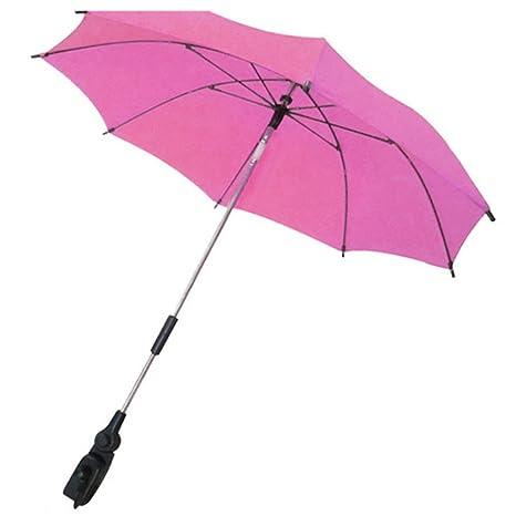 Gosear Parasol para sombrilla bebe carritos Paraguas Accesorios (Color Rose)