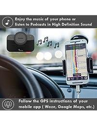 Altavoz para automóvil VeoPulse B-PRO 2 Manos libres con Bluetooth Conexión automática de teléfono - Kit manos libres seguro Tecnología inalámbrica para hablar y conducir - Compatible con todos los autos y teléfonos con Bluetooth