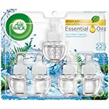 Air Wick Scented Oil 5 Refills, Fresh Waters, (5X0.67oz), Air Freshener