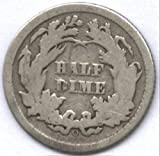 Seated Liberty Half Dime Dated From 1837 to 1873 Half Dime Very Good