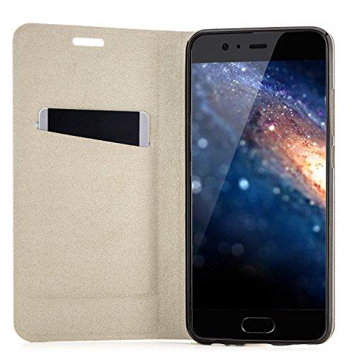 Funda Huawei Nova Plus (MLA-L11) Case Cubierta Carcasa Flip Cover Tapa Delantera con Billetera para Tarjetas, Cierre Abatible - Protectora de Alta Calidad   Azul Azul