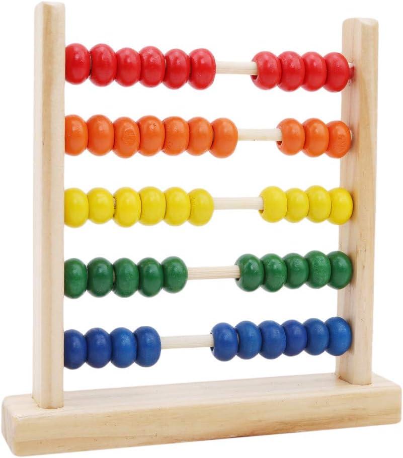 Jouets /éducatifs Classiques de comptage pour Les Enfants Apprentissage des math/ématiques boulier en Plastique boulier Jouet 5 rang/ées Hengsong Cadre de comptage Miniature
