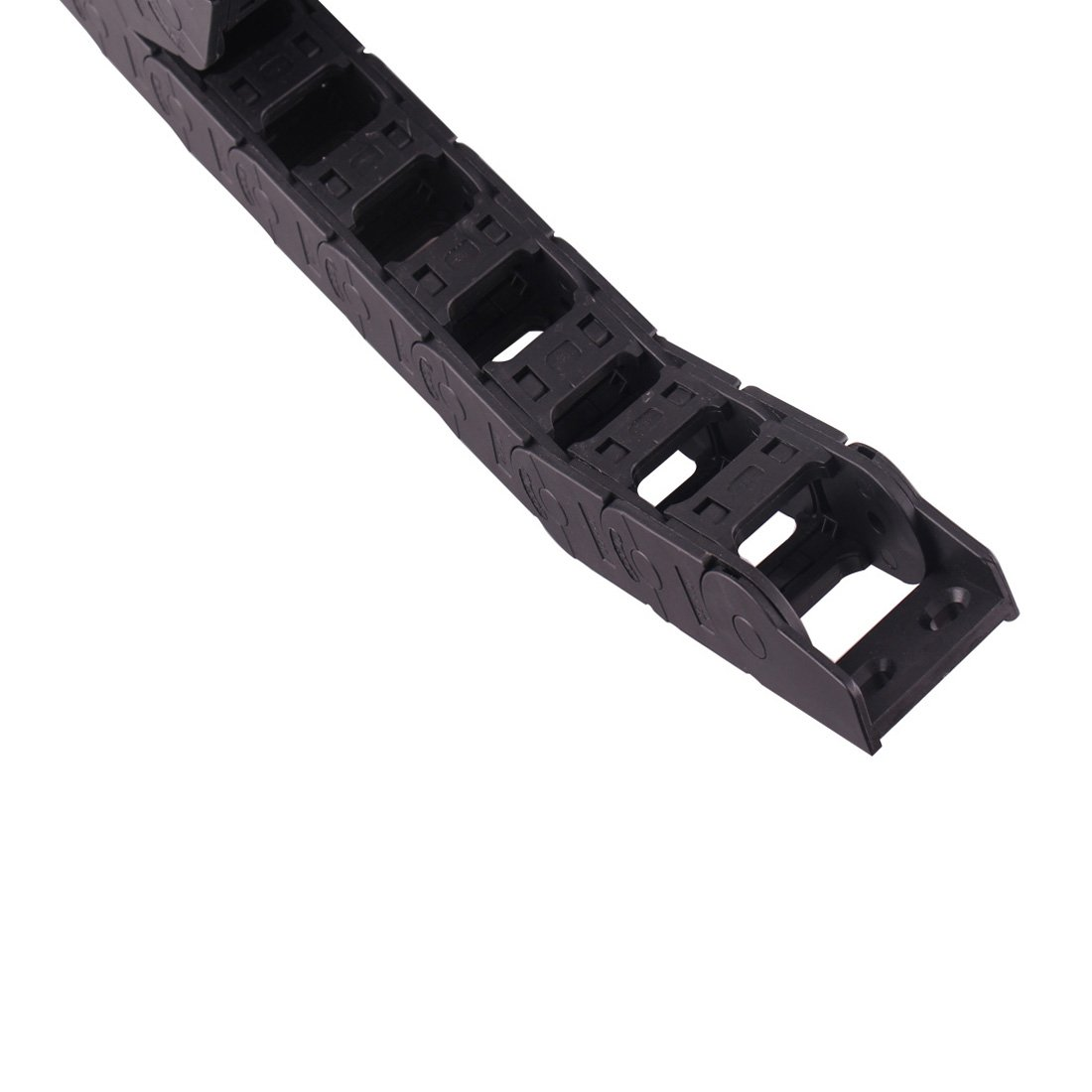 1M Long Black CNC Machine Tool Cable Wire Carrier Drag Chain Nested 25mm x 38mm Ted Lele Cable Drag Chain 25mm x 38mm