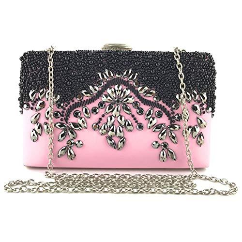 Da Borsa Sposa Donna Borsetta Sera Da Bag Da Da Pochette Festa Polso Pink Gshe Pink Per Da E xX6Y7wqx