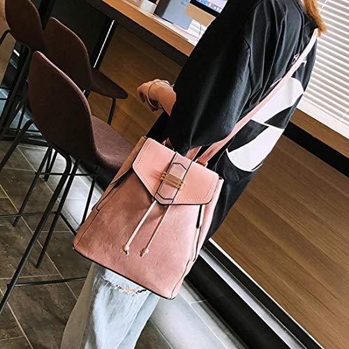 Pink Per Viaggio Pelle In Brown Weatly A Da Ragazze Elegante Vera Donna Tracolla Zaino Borsa color xqWZwfF