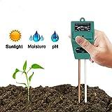 Hathdia Soil PH Meter,Soil Moisture Meter, 3-in-1 Soil Test Kit for PH/Moisture/Light Digital Soil Tester for Indoor/Outdoor Plant Care