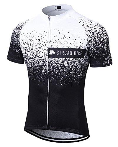 (MR Strgao Men's Cycling Jersey Bike Short Sleeve Shirt Size 3XL)