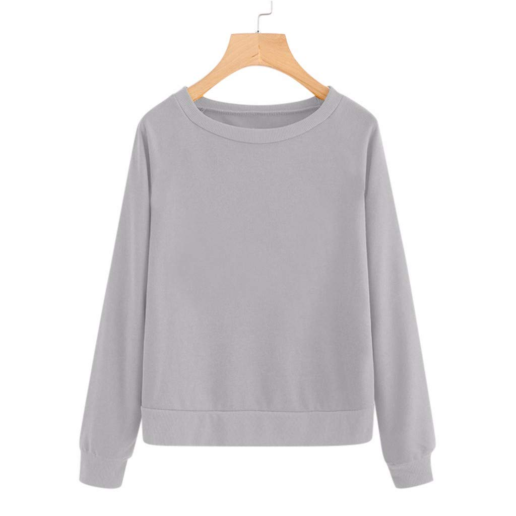 Bomden Womens Fashion Casual Hoodie Sweater Top Long-Sleeved Wool Pullover Colorblock Pullover Sweater Sweatshirt