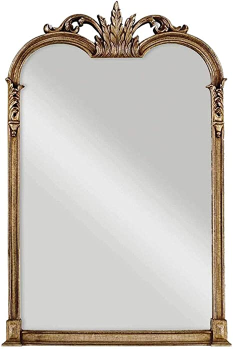 Antique Style Carved Framed Full Length Mirror Wood Hanging Wall Mirror With Vintage Border And Pattern D43 X W27inches Amazon Ca Home Kitchen