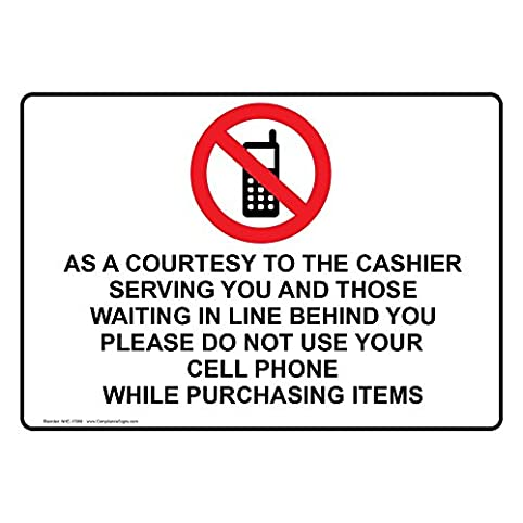 Compliancesigns Plastic Courtesy Do Not Use Your Cell Phone Sign 10