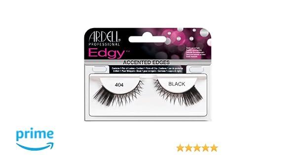 3078f8b4a25 Amazon.com : Ardell 404 Edgy Lashes, Black : Fake Eyelashes And Adhesives :  Beauty