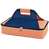 Picnic at Ascot Insulated Casserole Carrier to keep Food Hot or Cold- Orange/Navy For Sale