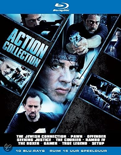 Action Collection - 10-Disc Box Set ( The Jewish Connection (Holy Rollers) / Pawn / Offender / Seeking Justice / The Courier / Rambo (Rambo IV) / Unrivaled [ Blu-Ray, Reg.A/B/C Import - Netherlands ]