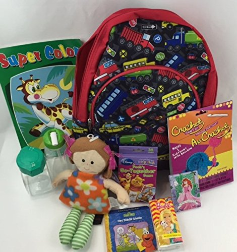 Children's Road-Trip Cars Backpack-Travel Activities for Girls age