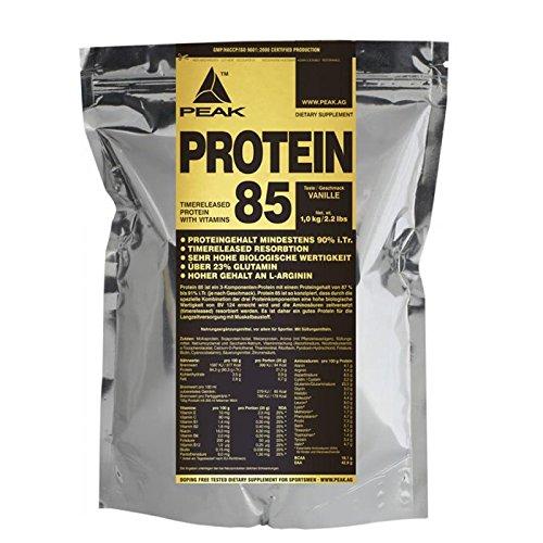 Peak Protein 85 mit 88% Eiweiß, 1000g Beutel, Vanille