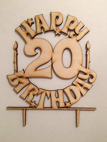 Birthday Cake Topper - Happy Birthday 20 - AW1074W