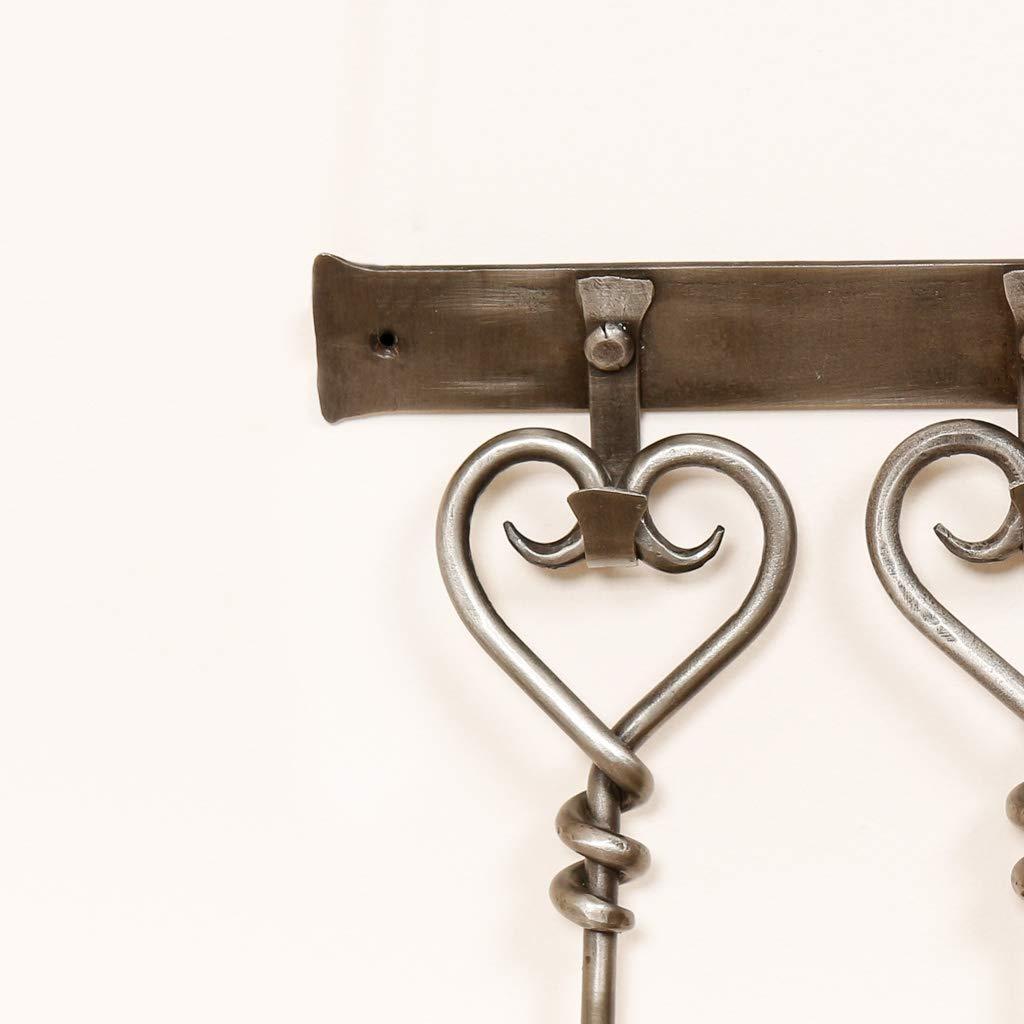 juego de pinceles para p/óquer Pala de hierro fundido con mango de coraz/ón para montar en la pared