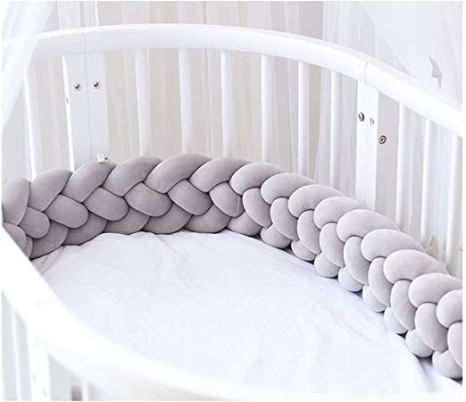 Braid Pillow Pad Protector Cushion Infant Baby Plush Crib Protect Bed Bedding UK