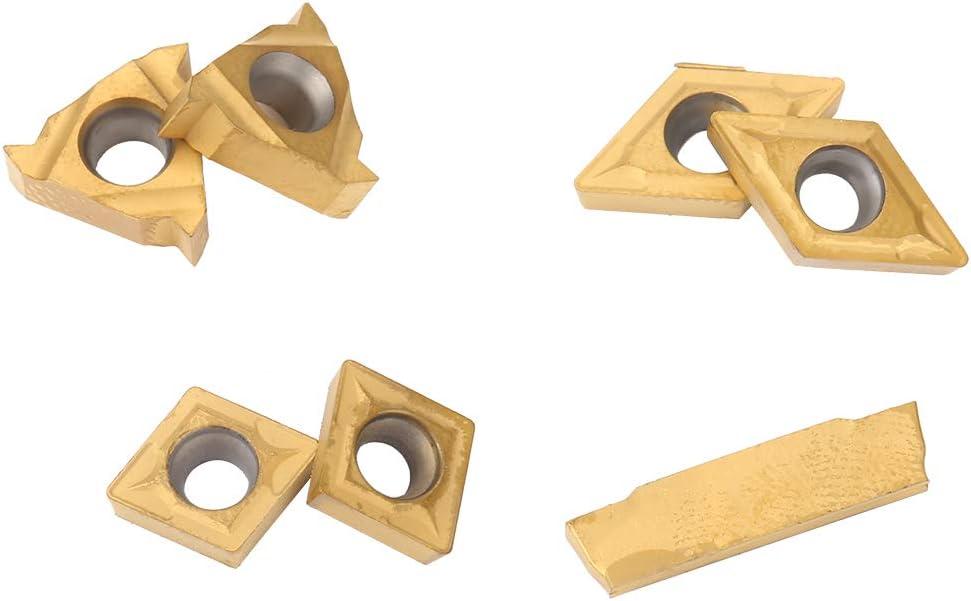 T8 Wrench Inserts Lathe Turning Tool 7Pcs Mini Shank Lathe Boring Bar Turning Tool Holder Boring Bar