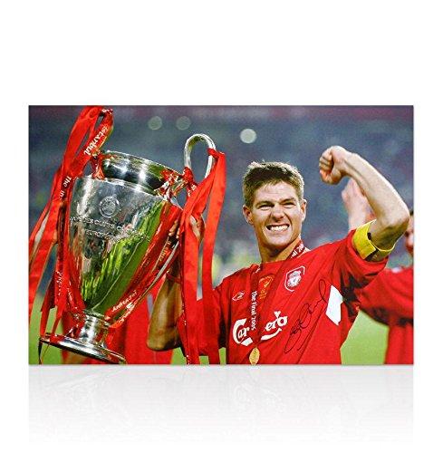 Steven Gerrard Hand Signed Canvas - 2005 Champions - Steven Gerrard Canvas