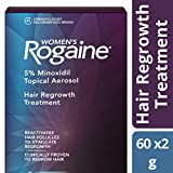 Womens Rogaine Treatment for Hair Loss & Hair Thinning Once-A-Day Minoxidil Foam, Four Month Supply