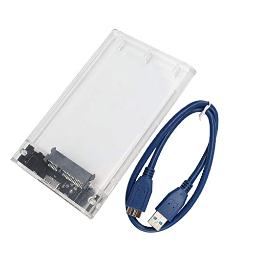 Topke 2,5 Pulgadas SATA HDD Case Transparente 3.0 a USB 3.0 Disco ...