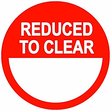 20mm Price Stickers Reduced To Clear Stickers 500