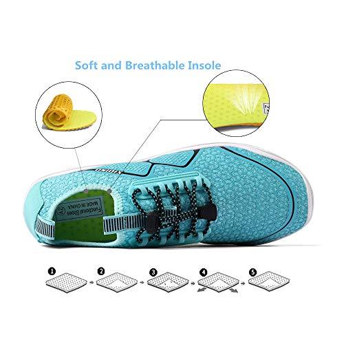 XIDISO Mens Womens Water Shoes Quick Dry Barefoot for Swim Diving Surf Aqua Sports Pool Beach Walking Yoga