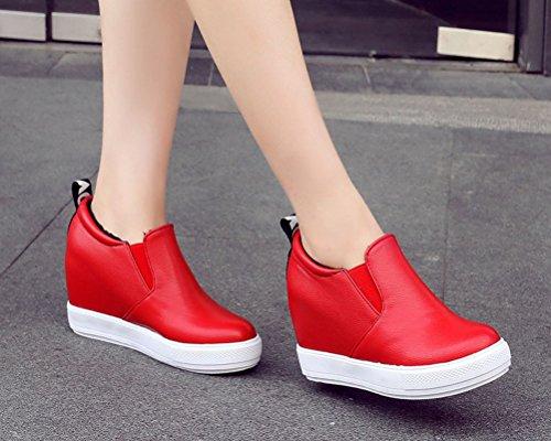Femme Red 5 HiTime Rouge Plateforme EU Lining PU 36 7FnZqnO