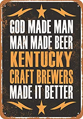 Wall-Color 10 x 14 Metal Sign - Kentucky Craft Brewers Make Better Beer - Vintage Look