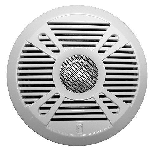 PolyPlanar MA7050 5'' 2-Way Marine Speaker w/2 Grills - White & Graphite by Poly-Planar by Poly-Planar