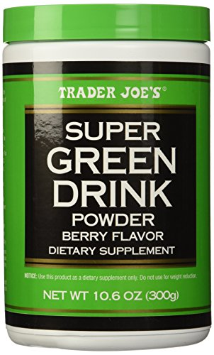 Trader Joe's Super Green Drink Powder Antioxidant Dietary Supplement, Berry Flavor, 10.6oz (300g)