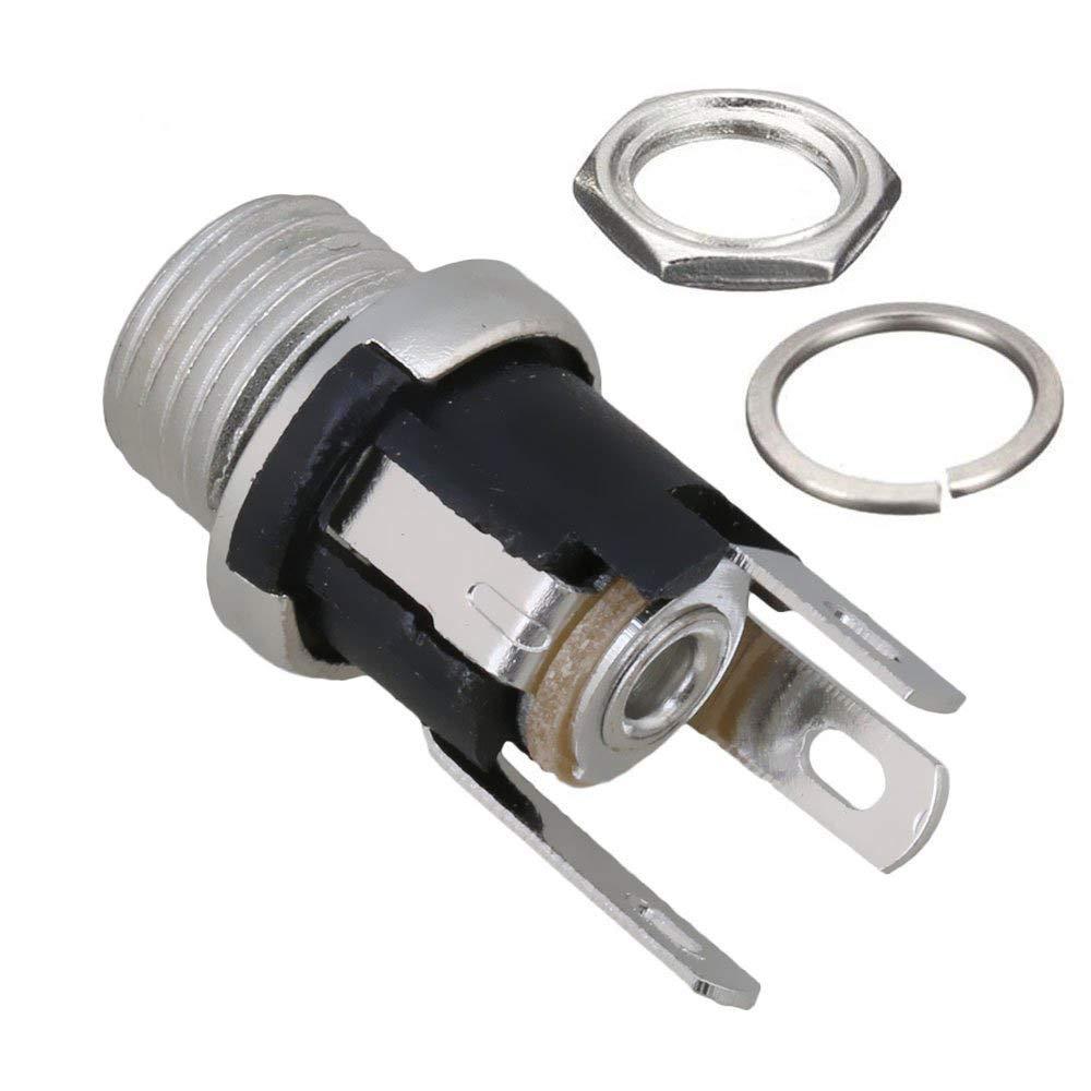 12 connecteurs Jack filet/és de Prise dalimentation Femelle CC 12 Pcs 5,5 mm x 2.5 mm 12 Douilles de Protection en Caoutchouc connecteurs Jack de Prise dalimentation m/âle CC de