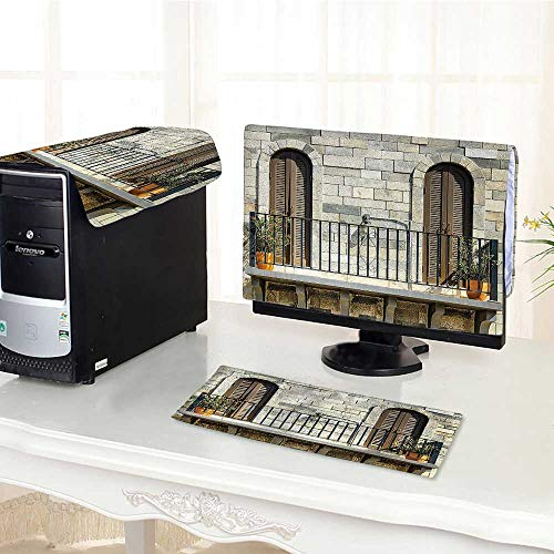 Auraisehome Computer Keyboard Dust Cover 3 Pieces Collection Doors from Valencia Spain Daylight Mediterranean Residence Entering Old City Im dust Cover Computer case /32