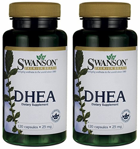 Swanson Premium DHEA 25mg - 120 Capsules (2 Bottles each of)