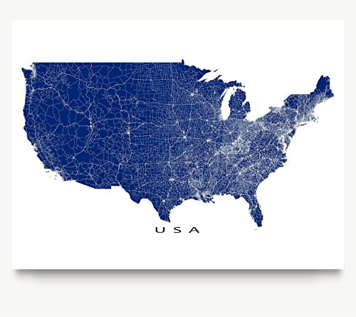 detailed united states map - 3