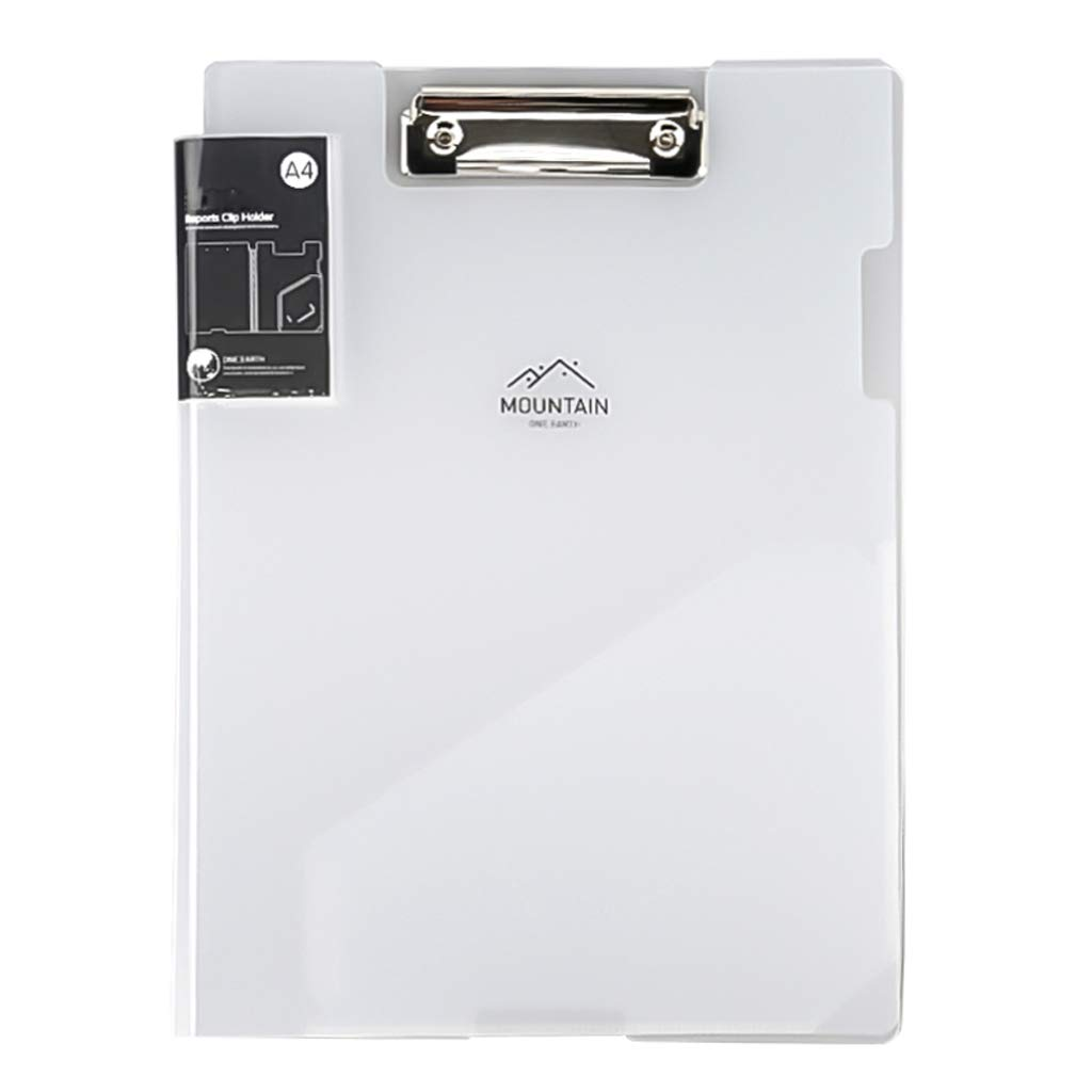 DYW Classic Folder A4 Folder Plastic Clip Board, Writing Board Folder Writing Plastic Transparent Office Supplies Clipboard Stationery Expanding File Folder (Size : 5 Pack)