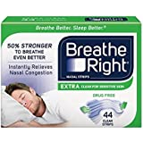 Breathe Right Nasal Strips, Extra Clear (44 ct.) by Breathe Right