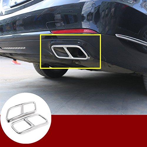 2010 Mercedes S-class - HOTRIMWORLD Rear Exhaust Muffler Tail Pipe Trim Cover 2pcs for Mercedes-Benz S Class W221 W222 2010-2017