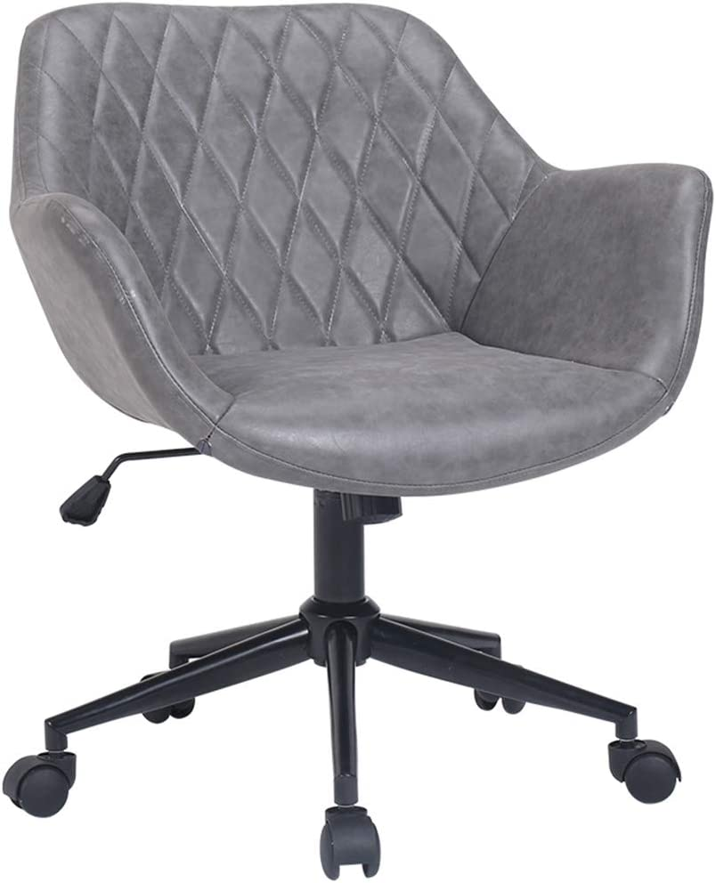 Amazon.com: Fubas- Desk Chair with Casters Tub Chair, Furniture