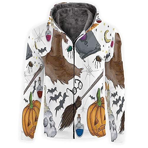 iPrint Unisex Men Zipper Hoodie Adult Zip Hoodie -Halloween Decorations]()